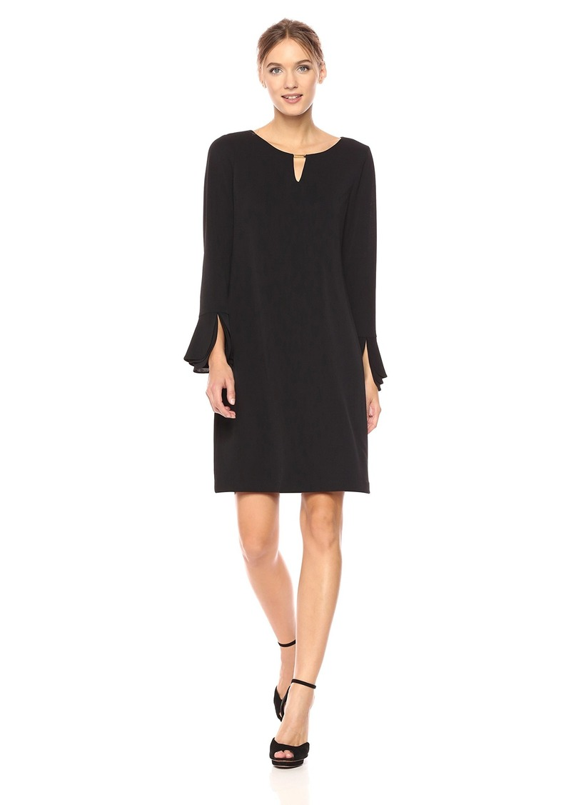 Calvin Klein Women's Tripple Flare Sleeve Dress  L