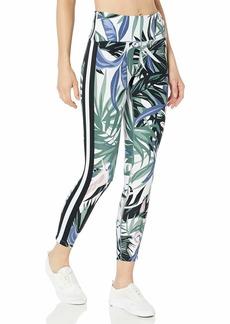 Calvin Klein Women's Tropical Print Wide Stripe Tape High Waist Tight