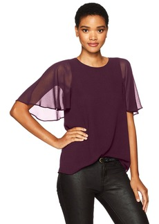 Calvin Klein Women's Tunic with Short Sleeve Flutter  M
