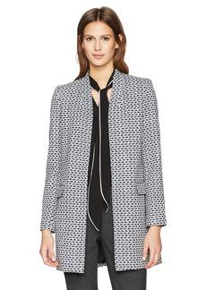 Calvin Klein Women's Tweed Jacket BK/Crm/Regta