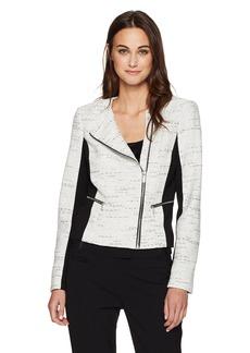 Calvin Klein Women's Tweed Jaquard Jacket