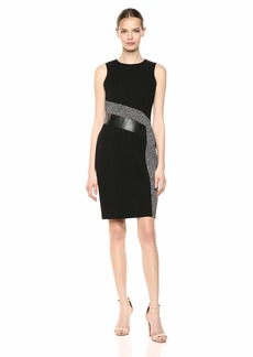Calvin Klein Women's Tweed Sheath Dress