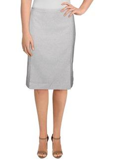 Calvin Klein Women's Twill Pleated Skirt tin/Cream