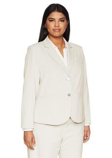 Calvin Klein Women's Two Button Lux Blazer (Petite Standard