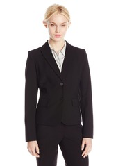 Calvin Klein Women's Two Button Lux Blazer (Standard & Petite Sizes)