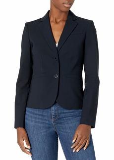Calvin Klein Women's Two Button Slit Pocket Lux Blazer