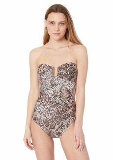 Calvin Klein Women's U Hardware Bandeau One Piece
