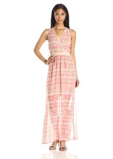 Calvin Klein Women's V-Neck Chiffon Dress Porcelain Rose/Little Multi CKSP