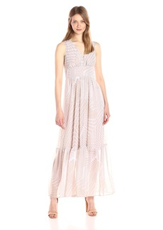 Calvin Klein Women's V-Neck Chiffon Printed Maxi Dress