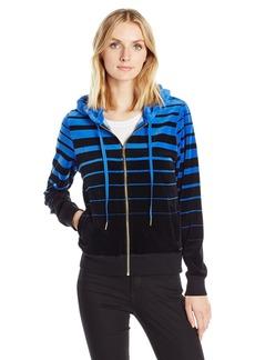 Calvin Klein Women's Varigated Stripe Hoodie  L