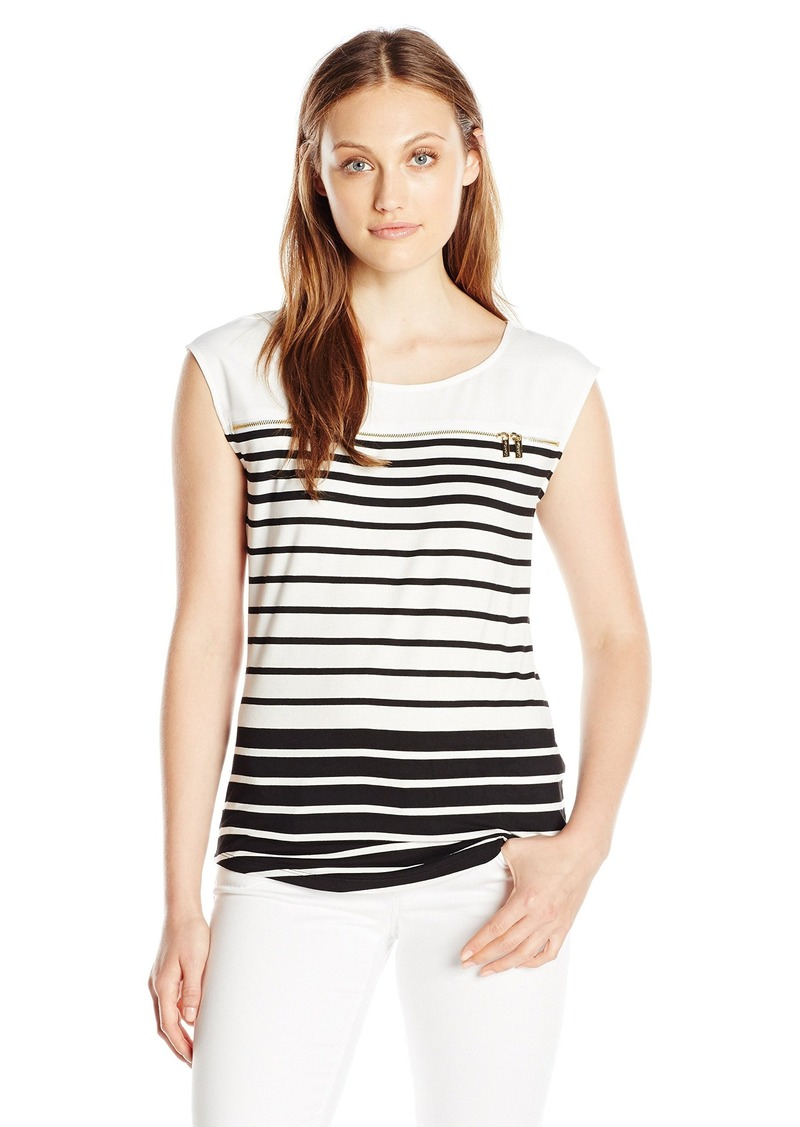 Calvin Klein Women's Varigated Stripe Top