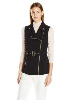 Calvin Klein Women's Vest Withbelt &Pocket