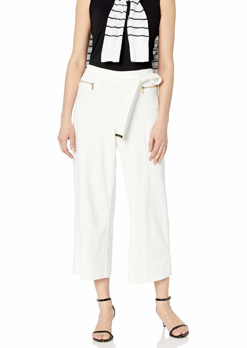 Calvin Klein Women's Wide Leg Pant with Belt