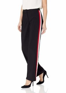 Calvin Klein Women's Wide Leg Pant with Stripe