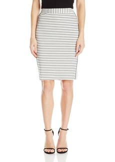 Calvin Klein Women's Wide Stripe Pencil Skirt