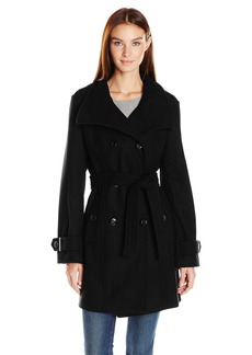 Calvin Klein Women's Wool Belted Double Breasted Coat  M