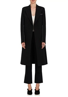 Calvin Klein Women's Wool-Silk Crossover-Front Coat