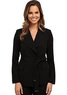 Calvin Klein Women's Wrap Jacket with Belt