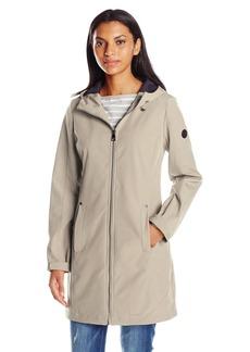 Calvin Klein Women's Zippered Soft Shell Rain Jacket with Hood  XL