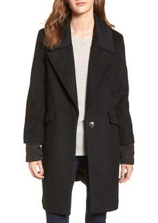Calvin Klein Wool & Down Reefer Coat