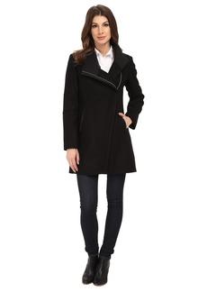 Calvin Klein Wool Asymmetrical Zip Coat