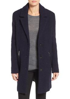 Calvin Klein Wool Blend Bouclé Walking Coat