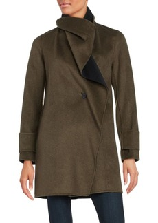 Calvin Klein Wool Blend Wrap Coat