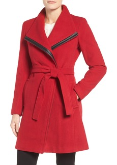 Calvin Klein Wool Blend Wrap Trench