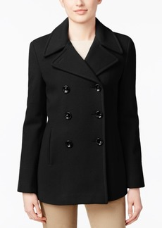 Calvin Klein Wool-Cashmere Double-Breasted Peacoat, Created for Macy's