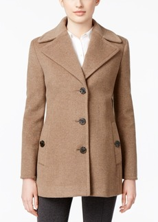 Calvin Klein Wool-Cashmere Single-Breasted Peacoat, Only at Macy's