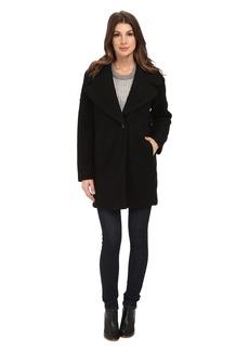Calvin Klein Wool One Button Boyfriend Coat