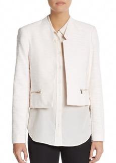 Calvin Klein Woven Cotton Knit Jacket