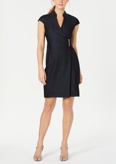 Calvin Klein Wrap-Front Dress