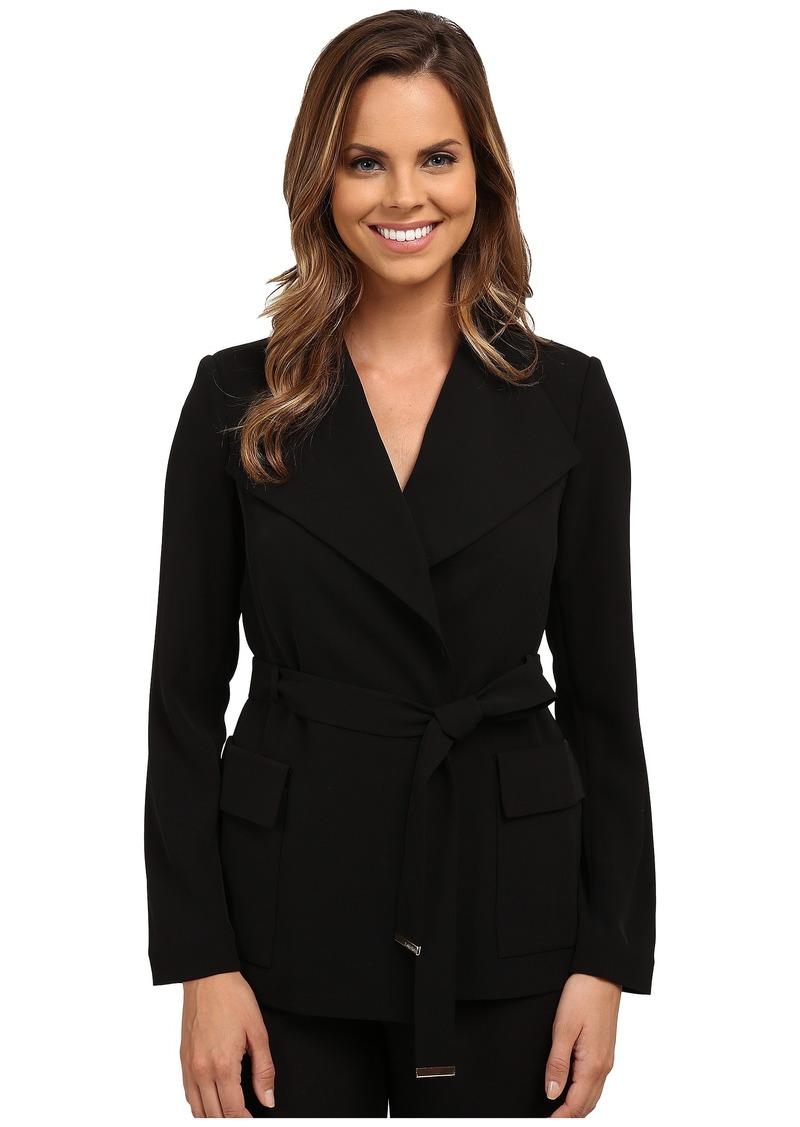 Calvin Klein Wrap Jacket w/ Belt