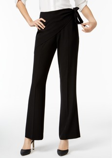 Calvin Klein Wrap-Top Straight-Leg Pants, A Macy's Exclusive