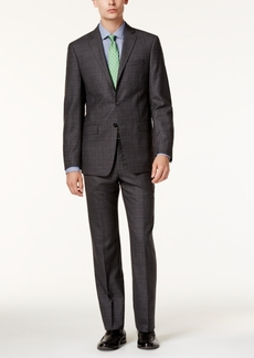 Calvin Klein X-Fit Men's Gray Glen Plaid Slim Fit Suit