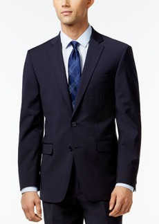 Calvin Klein X-Fit Navy Solid Slim Fit Jacket