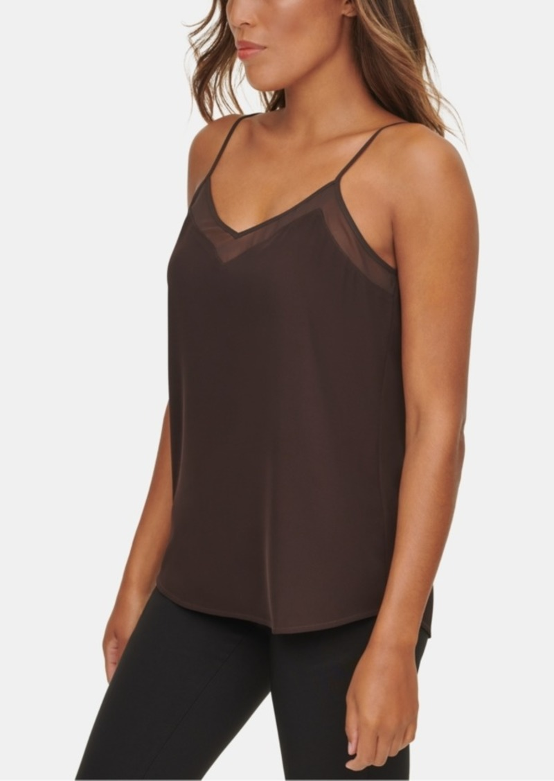 Calvin Klein X-Fit V-Neck Illusion Cami