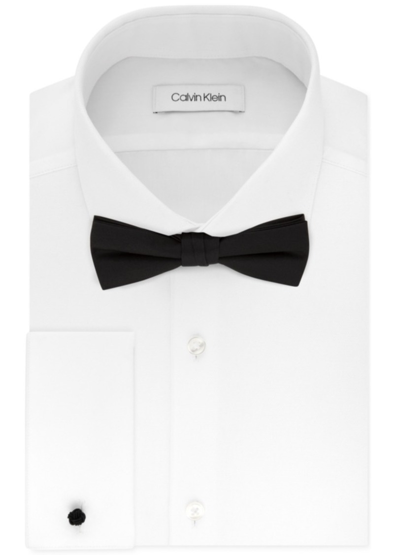 Calvin Klein X Men's Extra-Slim Fit Formal White French Cuff Dress Shirt & Pre-Tied Bow Tie