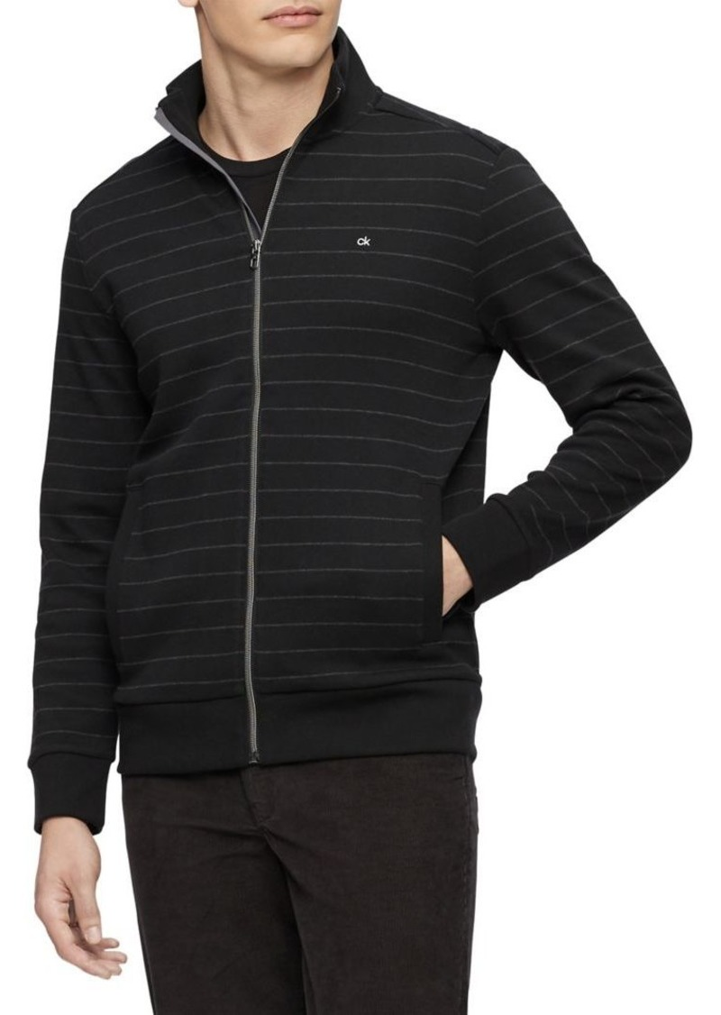 Calvin Klein Yarn-Dyed Striped Cotton Sweatshirt