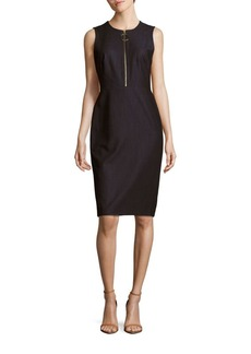 Calvin Klein Zip-Accented Sheath Dress