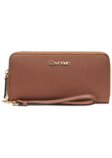 Calvin Klein Saffiano Leather Zip-Around Wallet