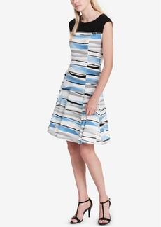 Calvin Klein Zip-Detail Fit & Flare Dress