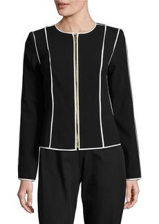 CALVIN KLEIN Zip-Front Contrast Jacket