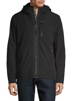 Calvin Klein Zip-Front Faux-Fur Jacket