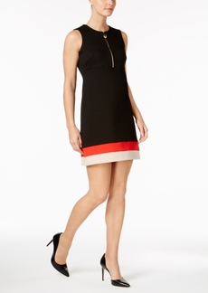 Calvin Klein Zip-Front Ponte Dress