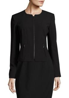 Calvin Klein Zip Front Roundneck Jacket