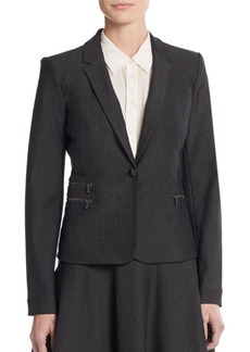 Calvin Klein Zip-Pocket Blazer