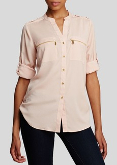 Calvin Klein Zip Pocket Roll Sleeve Shirt
