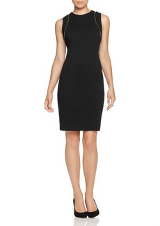 Calvin Klein Zip Trim Sheath Dress